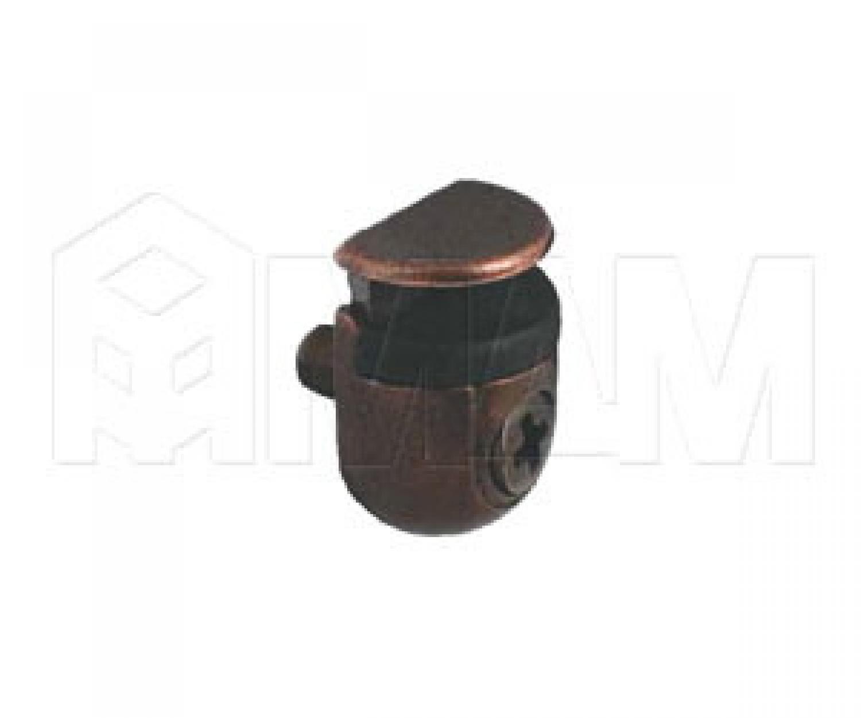 PEKI Полкодержатель с фиксатором для стеклянных полок толщиной 4-10 мм, бронза