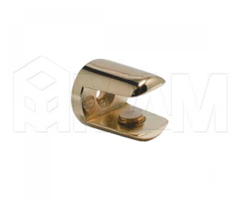 Полкодержатель для стеклянных полок толщиной 8-10 мм, золото