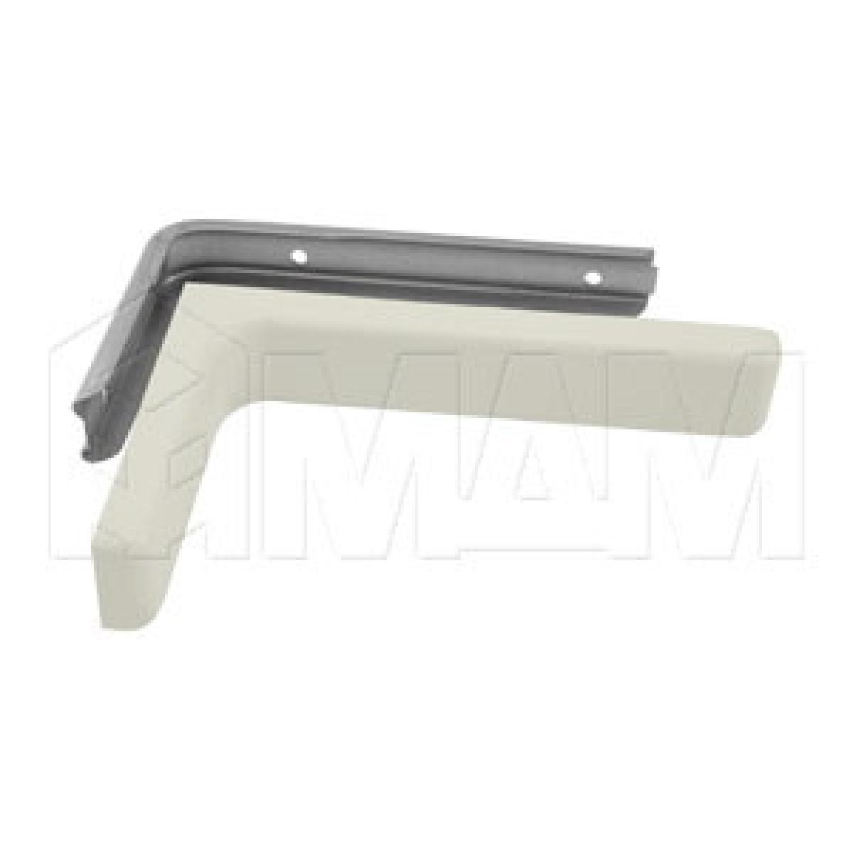 CORNER Менсолодержатель для деревянных полок с декоративной накладкой L-120 мм, белый (2 шт.)