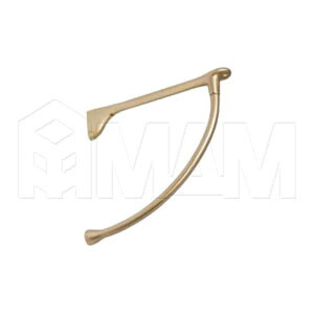 Менсолодержатель для деревянных полок L-240 мм, золото матовое (2 шт.)