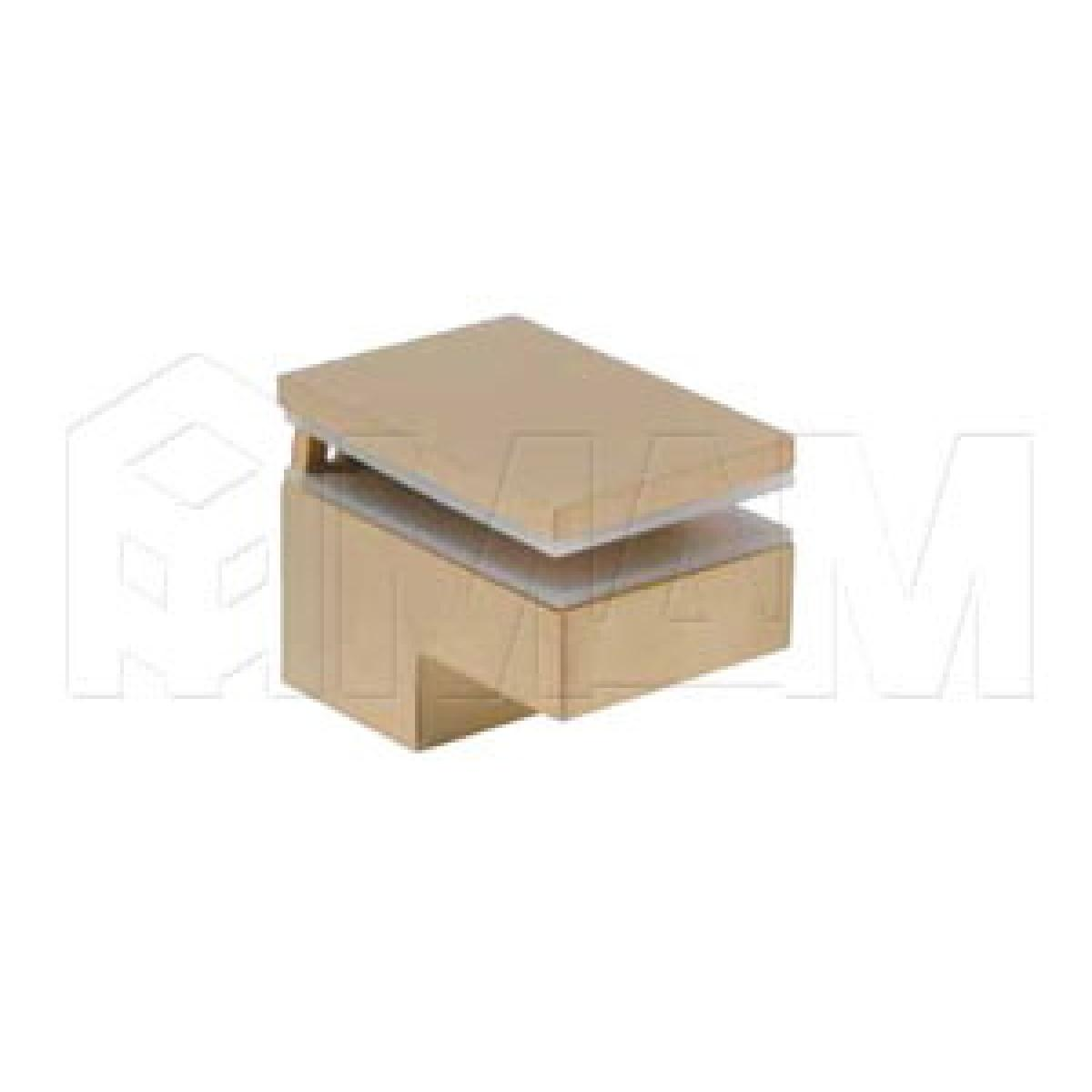Менсолодержатель 40Х60 мм для деревянных и стеклянных полок 6 -25 мм, золото матовое (2 шт.)