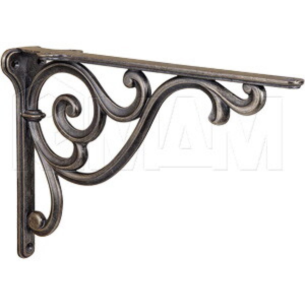 ROME Менсолодержатель для деревянных полок L-250 мм, бронза состаренная