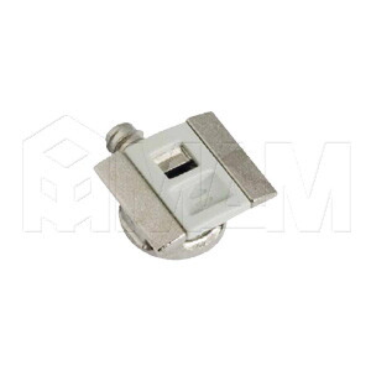 UNICO Полкодержатель для деревянных полок с фиксацией, со штоком с резьбой, светло-серый