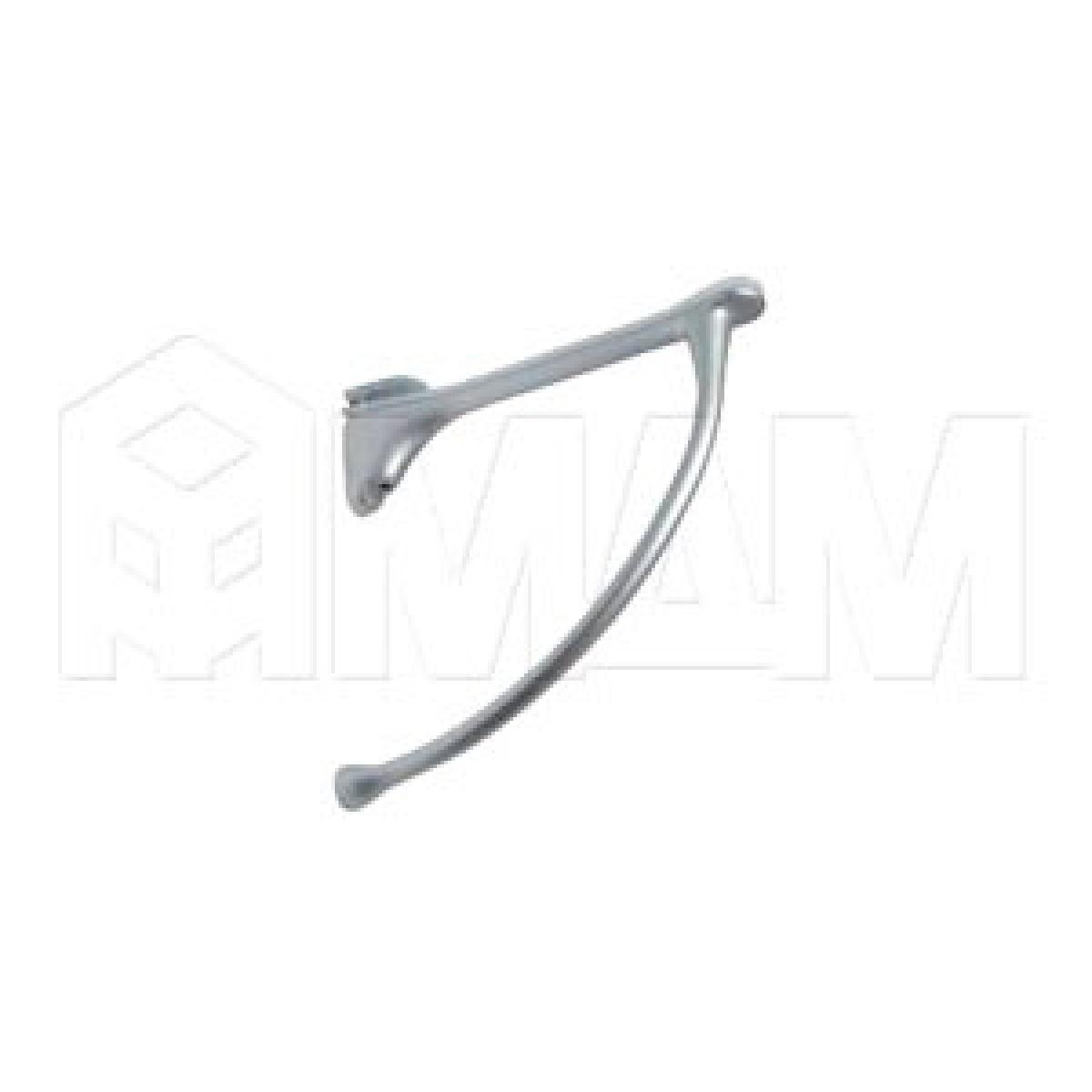 Менсолодержатель для деревянных и стеклянных полок 6 - 20 мм, L-149 мм, хром матовый (2 шт.)