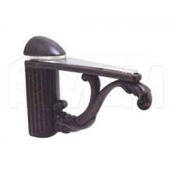 Менсолодержатель для деревянных и стеклянных полок 4 - 25 мм, L-115 мм, бронза патинированная
