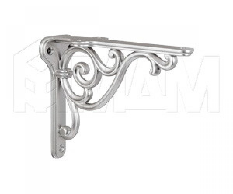 ROME Менсолодержатель для деревянных полок L-150 мм, серебро Ноттингем