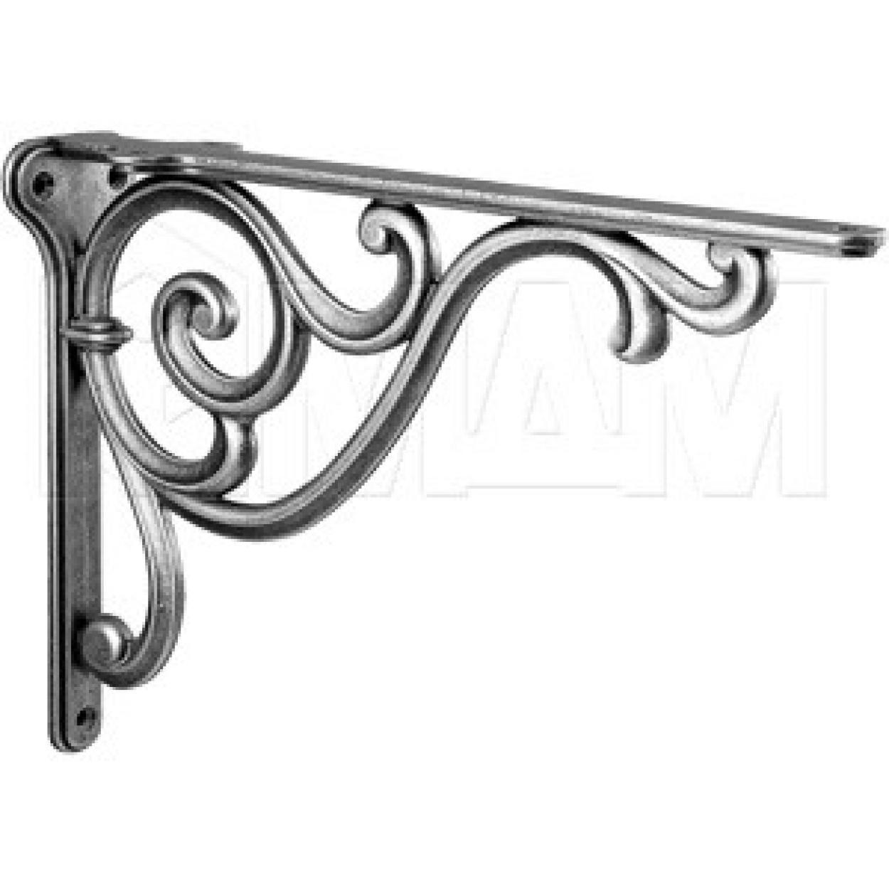 ROME Менсолодержатель для деревянных полок L-250 мм, серебро состаренное