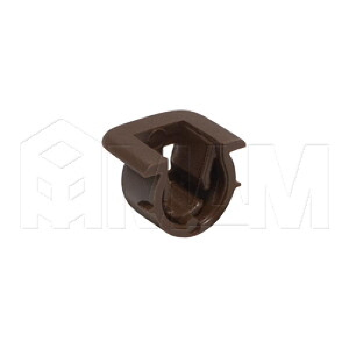 Полкодержатель пластиковый коричневый