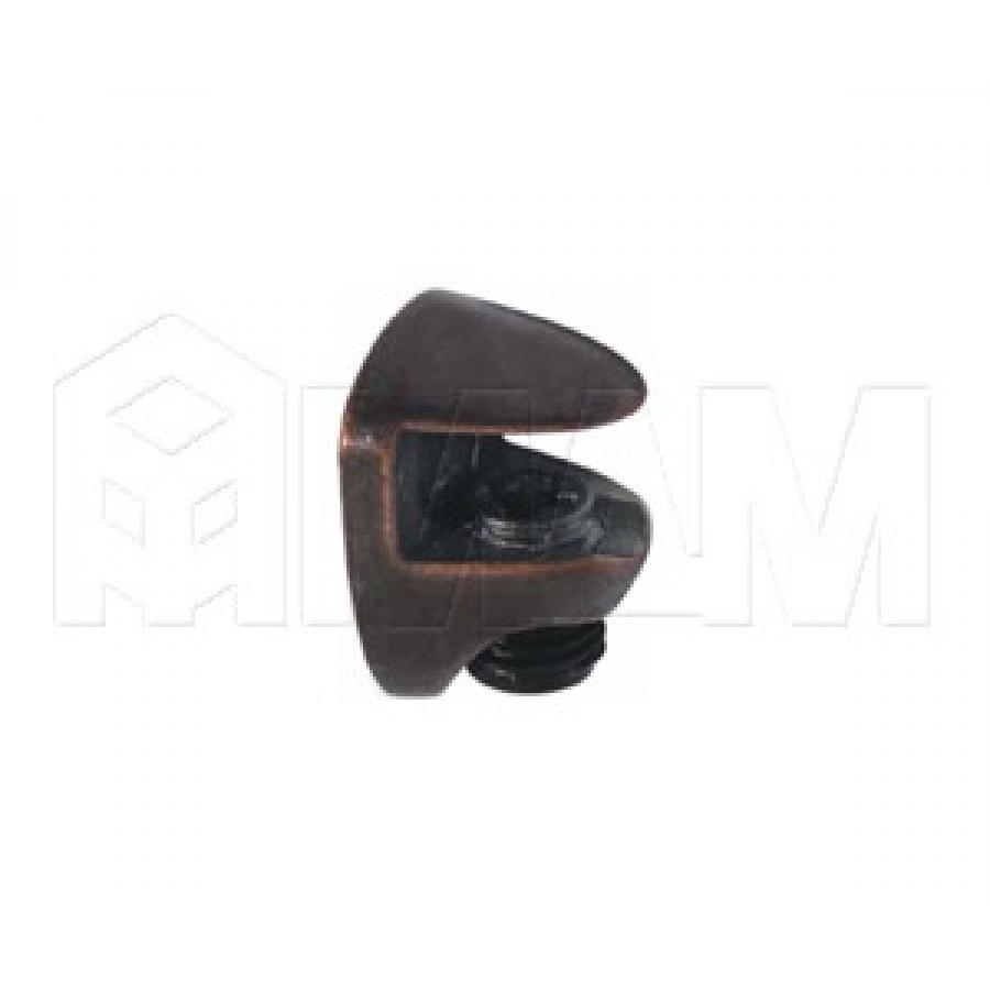 COBRA Полкодержатель для стеклянных полок толщиной 5-6 мм, под саморез, бронза