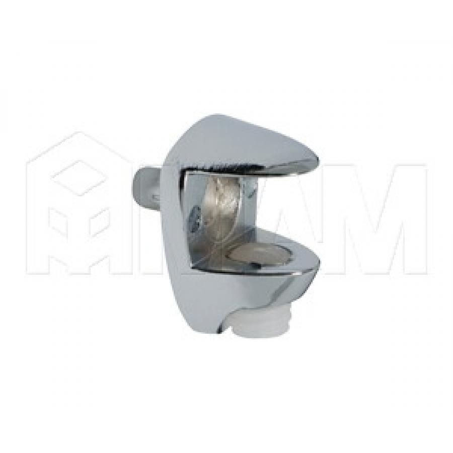 Полкодержатель для стеклянных полок толщиной 8-10 мм, со штоком, хром
