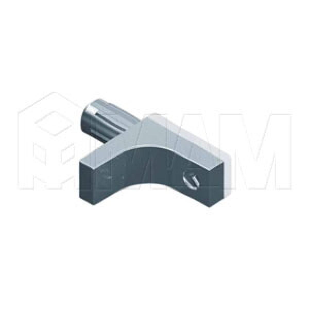 K-LINE Полкодержатель с дополнительным упором для стеклянных полок без фиксации, никель