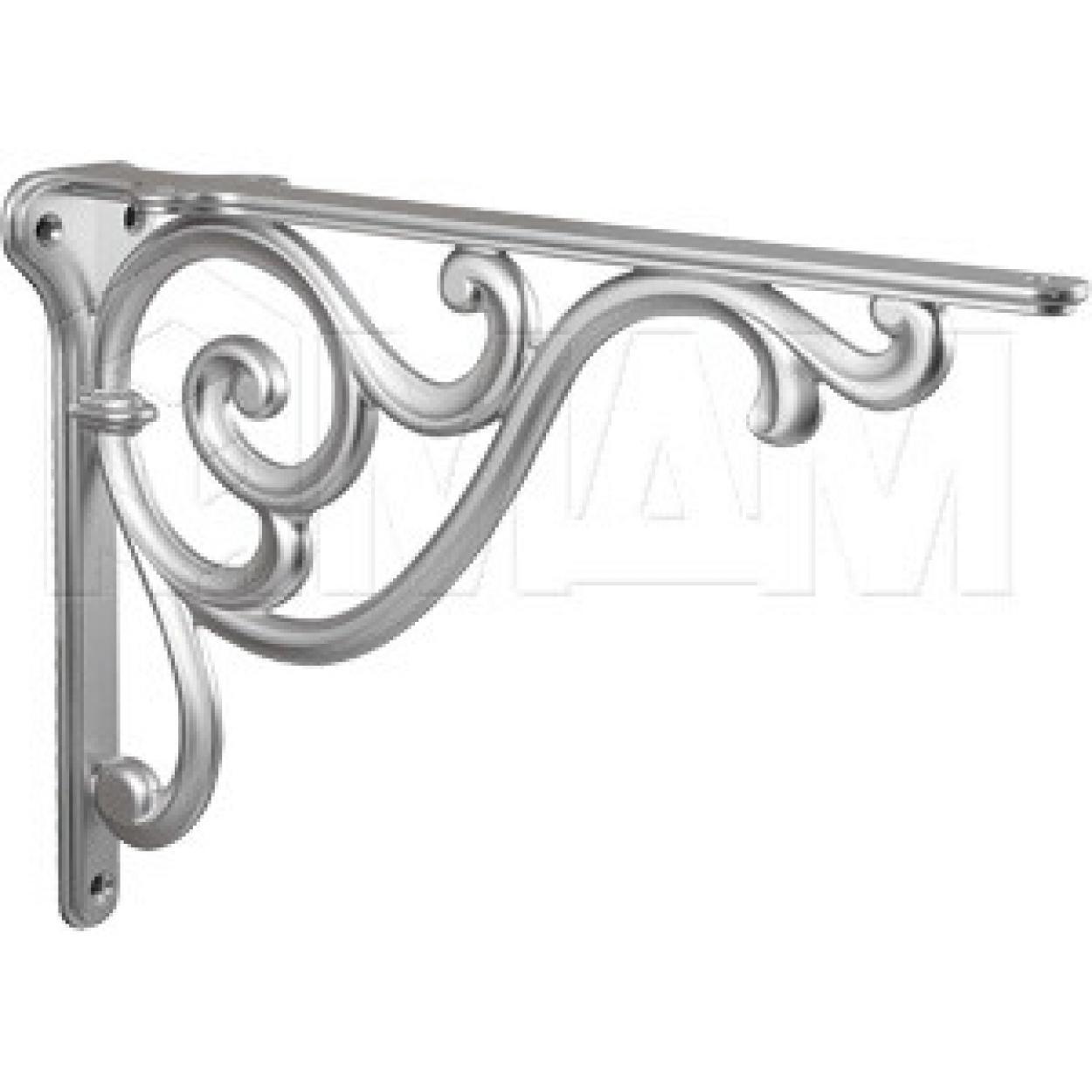 ROME Менсолодержатель для деревянных полок L-250 мм, серебро Ноттингем