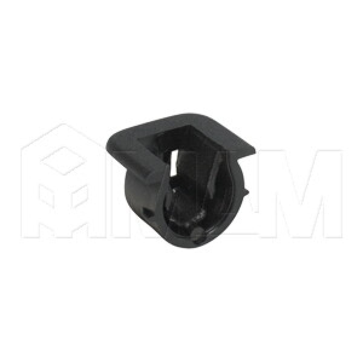 Полкодержатель пластиковый черный