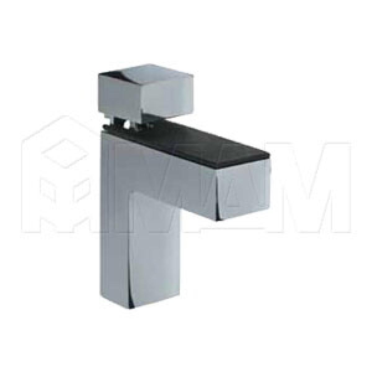 КВАДРО Менсолодержатель 24х66 мм для деревянных и стеклянных полок 4 - 40 мм, хром