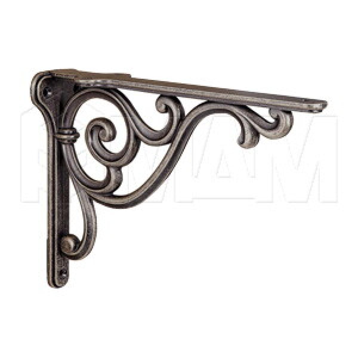 ROME Менсолодержатель для деревянных полок L-200 мм, бронза состаренная