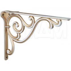ROME Менсолодержатель для деревянных полок L-250 мм, cлоновая кость/золото винтаж