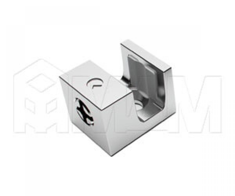 KRISTAL Полкодержатель для стеклянных полок толщиной 5-6 мм, под саморез, хром