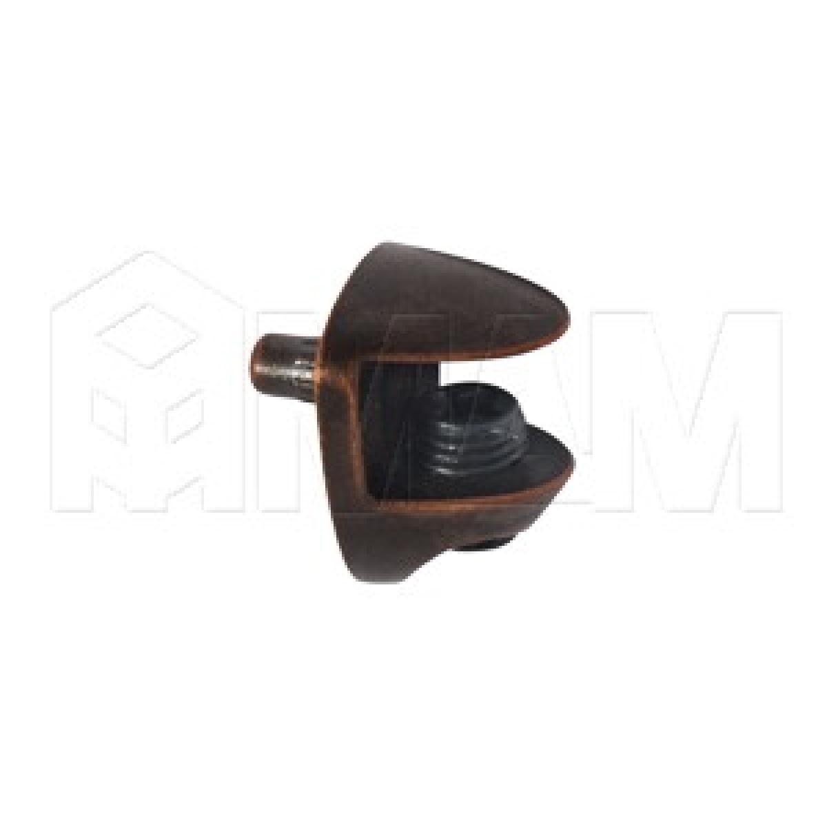 COBRA Полкодержатель для стеклянных полок толщиной 8-10 мм, со штоком, бронза