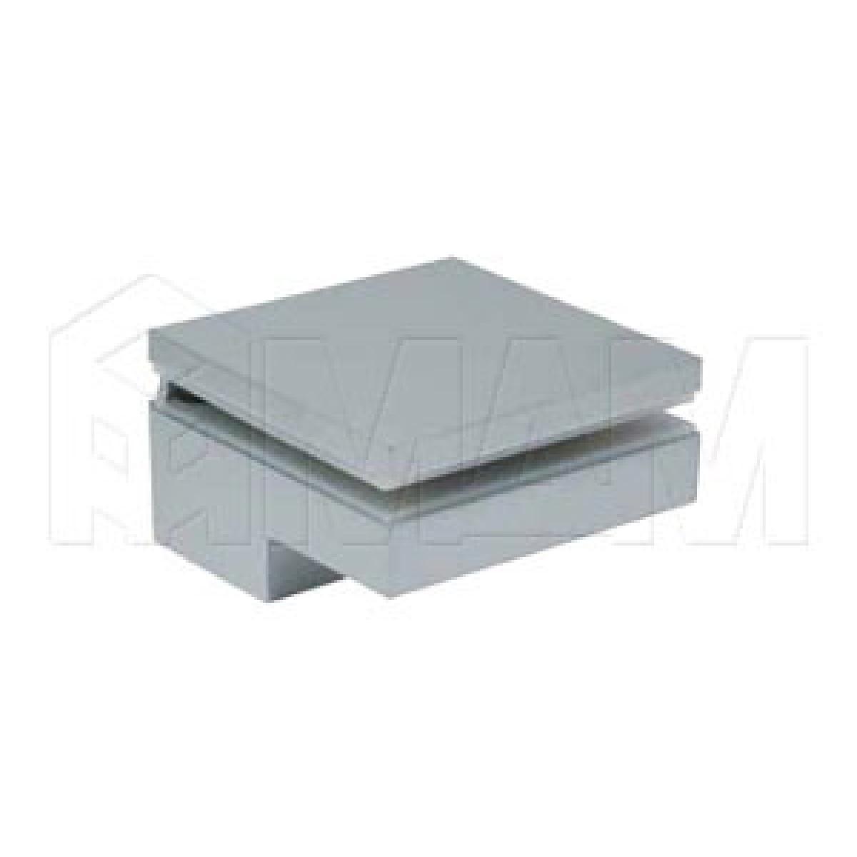 Менсолодержатель 80Х80 мм для деревянных и стеклянных полок 6 - 40 мм, хром матовый, (2 шт.)