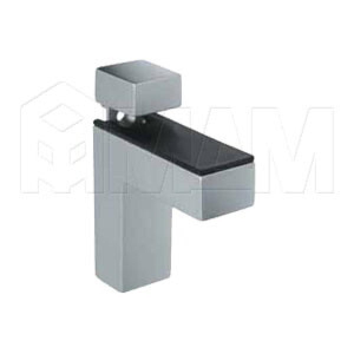 КВАДРО Менсолодержатель 24х66 мм для деревянных и стеклянных полок 4 - 40 мм, хром матовый