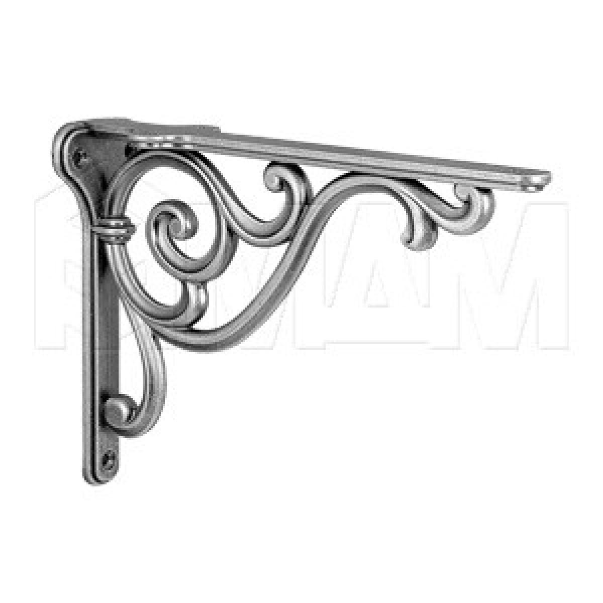 ROME Менсолодержатель для деревянных полок L-200 мм, серебро состаренное