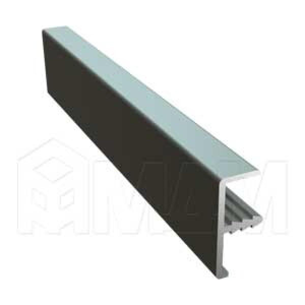 INTEGRO Профиль окантовочный врезной, для плиты 18 мм, 20х9х8, серебро, L-6000