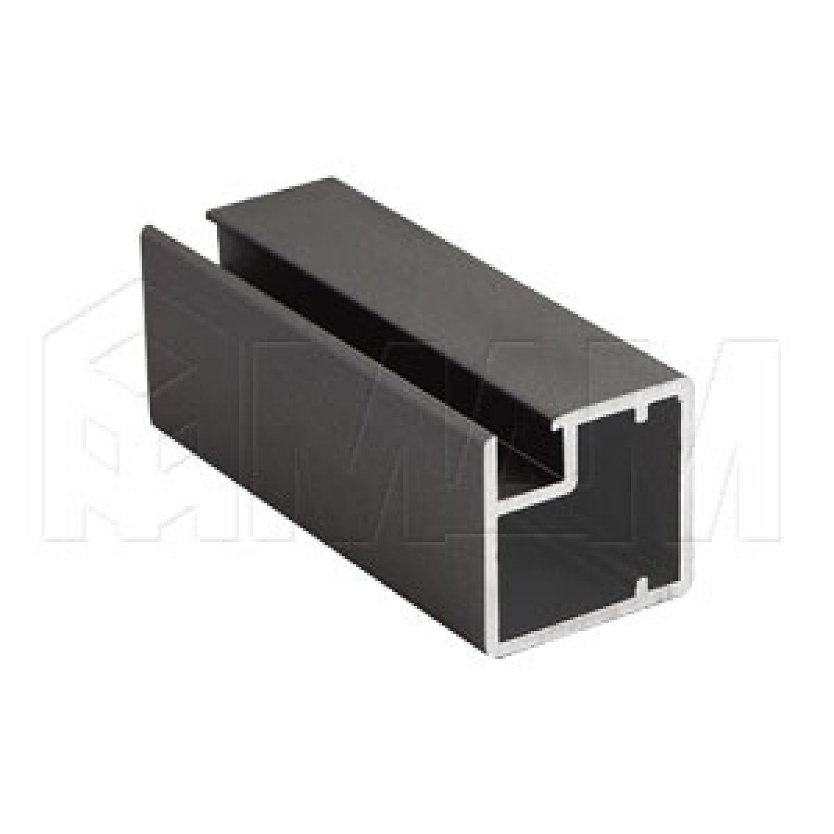 INTEGRO Профиль рамочный узкий, 19х20х19, бронза, L-6000
