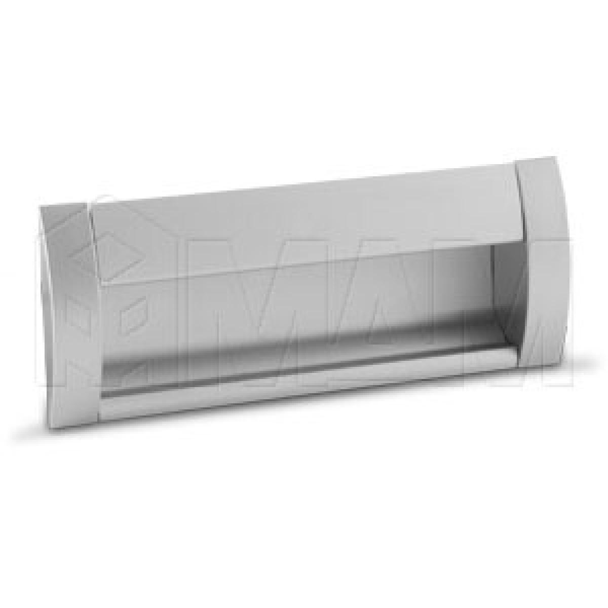 Ручка-раковина 128мм крепление саморезами алюминий