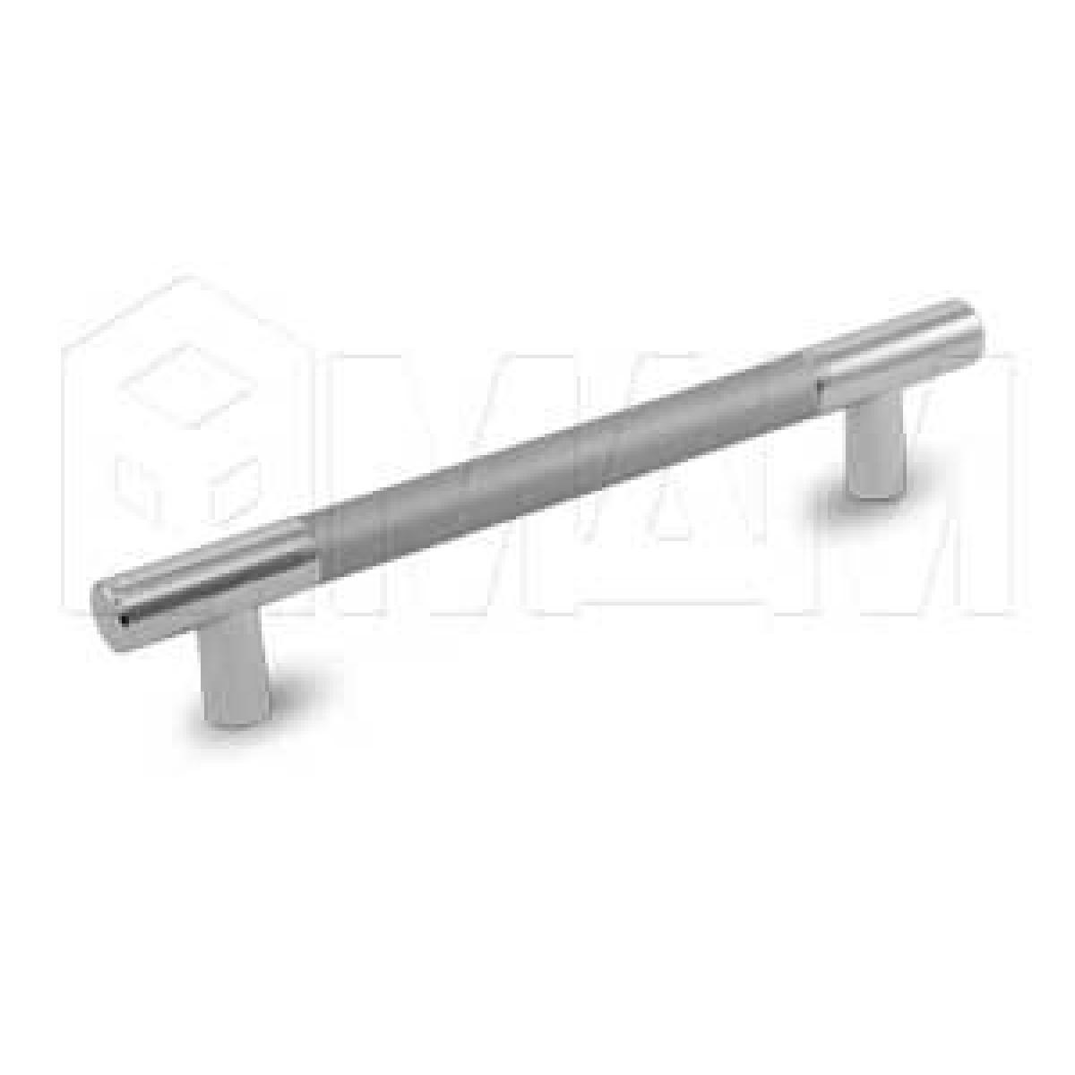 Ручка-рейлинг 96мм хром/алюминий
