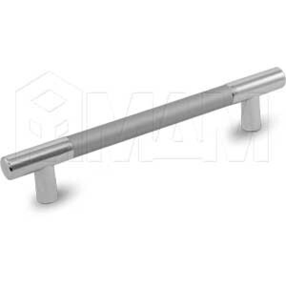 Ручка-рейлинг 128мм хром/алюминий