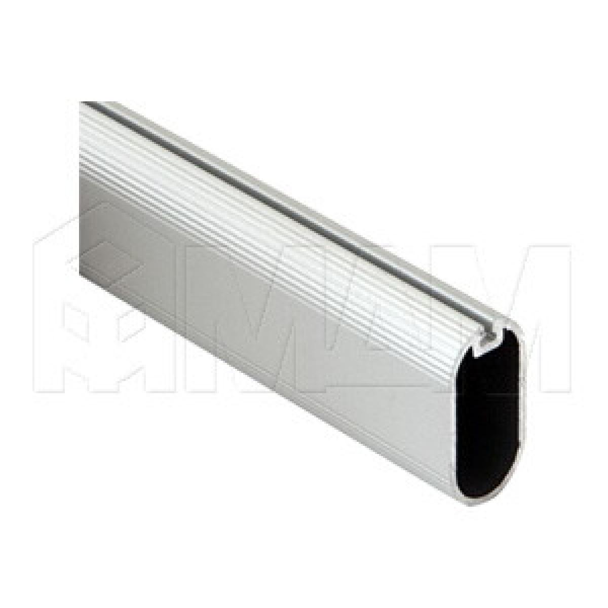 Штанга овальная 15х30, серебро, L-3000