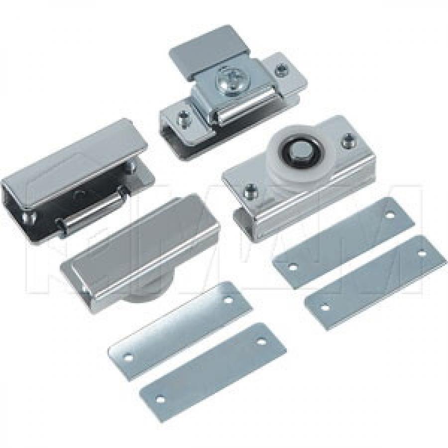MiniCabinet Комплект роликов для 1 стеклянной двери, 15 кг (2 верхних, 2 нижних)