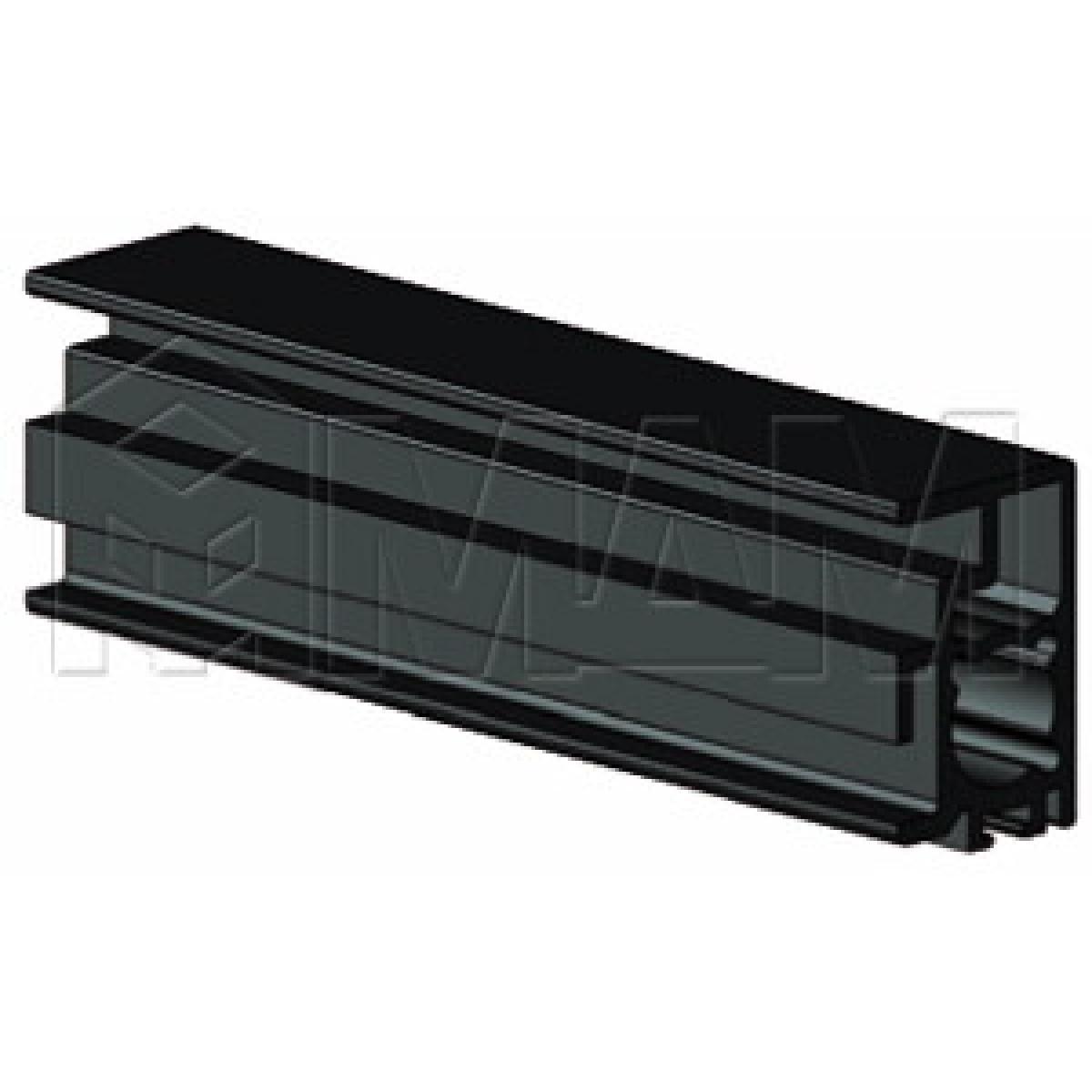 PS19 Вертик. профиль узкий, черный, L-3000