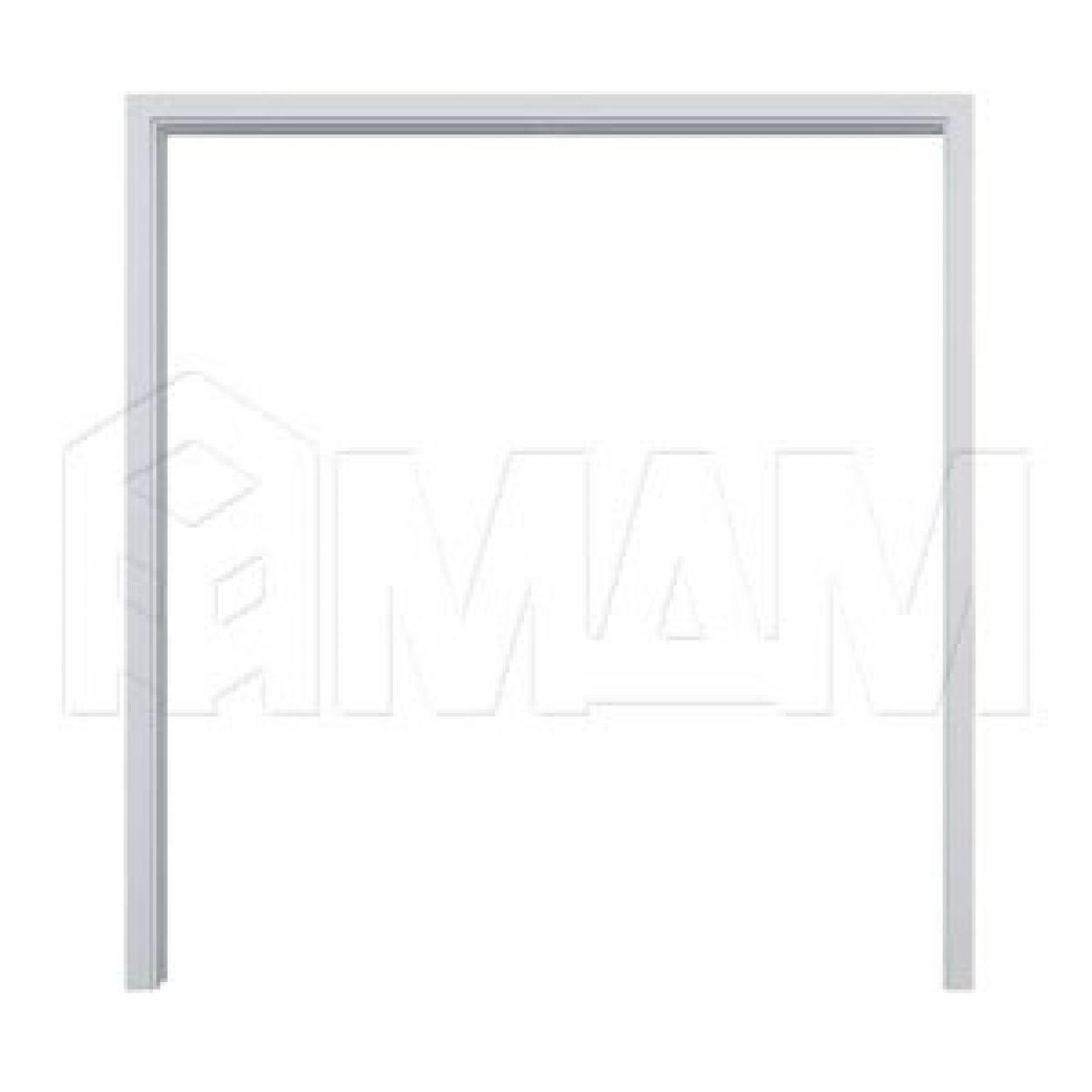 GUSTAVSON Рамка и наличники для двух дверей шириной 600 мм, толщина 100 мм, МДФ, белый