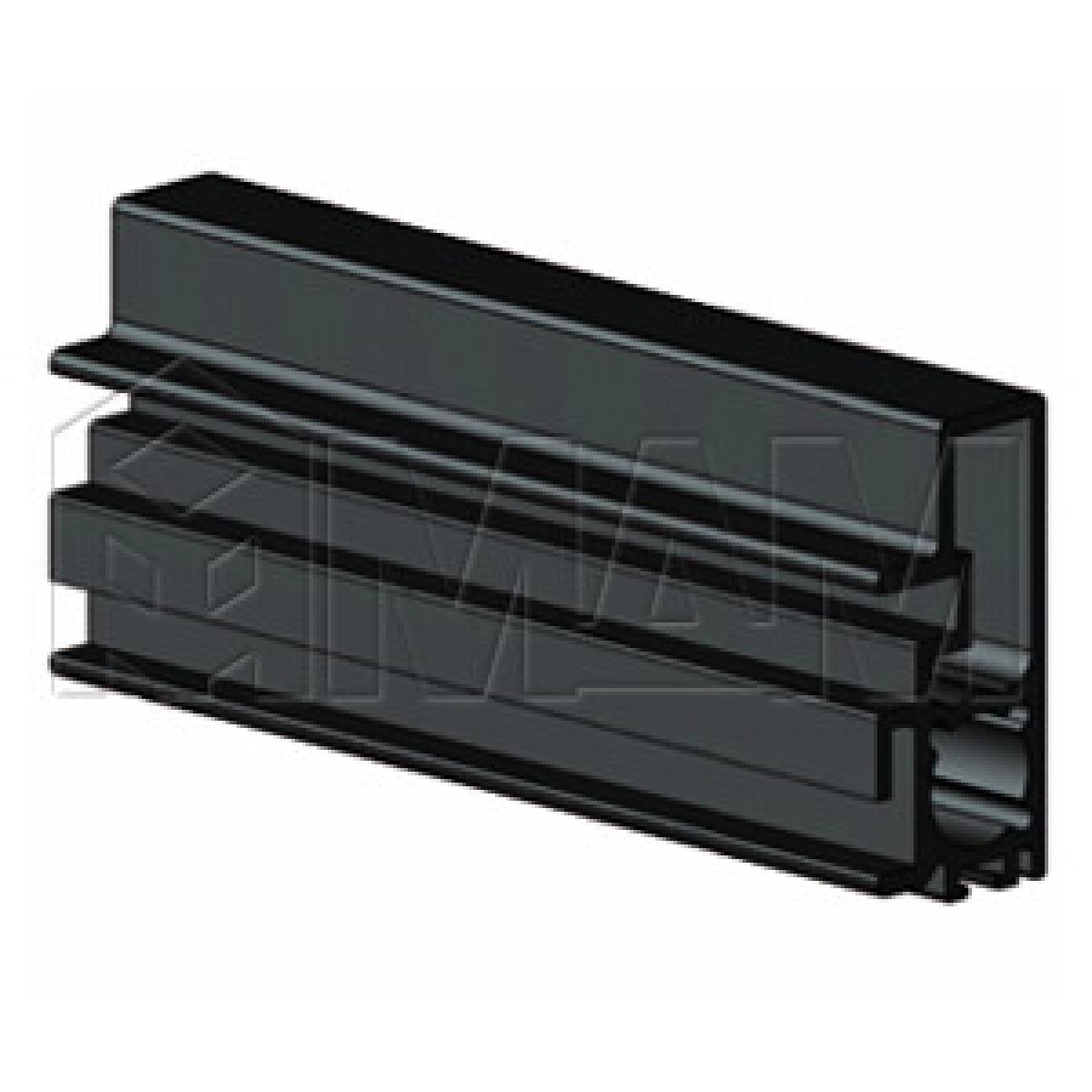 PS19 Вертик. профиль-ручка станд., черный, L-3000