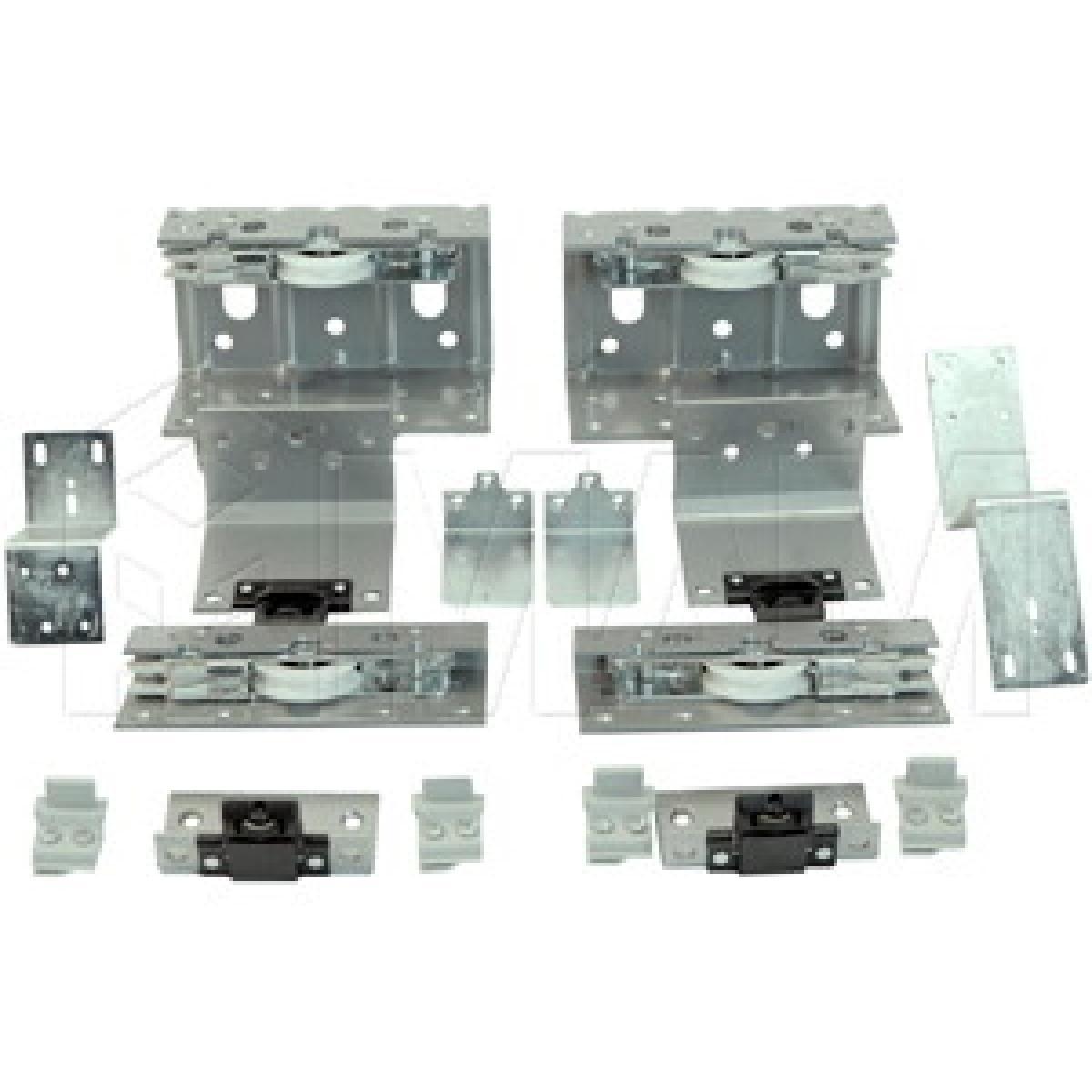 PS10 Комплект роликов для двухдверного шкафа с электроприводом, толщина фасада до 23 мм