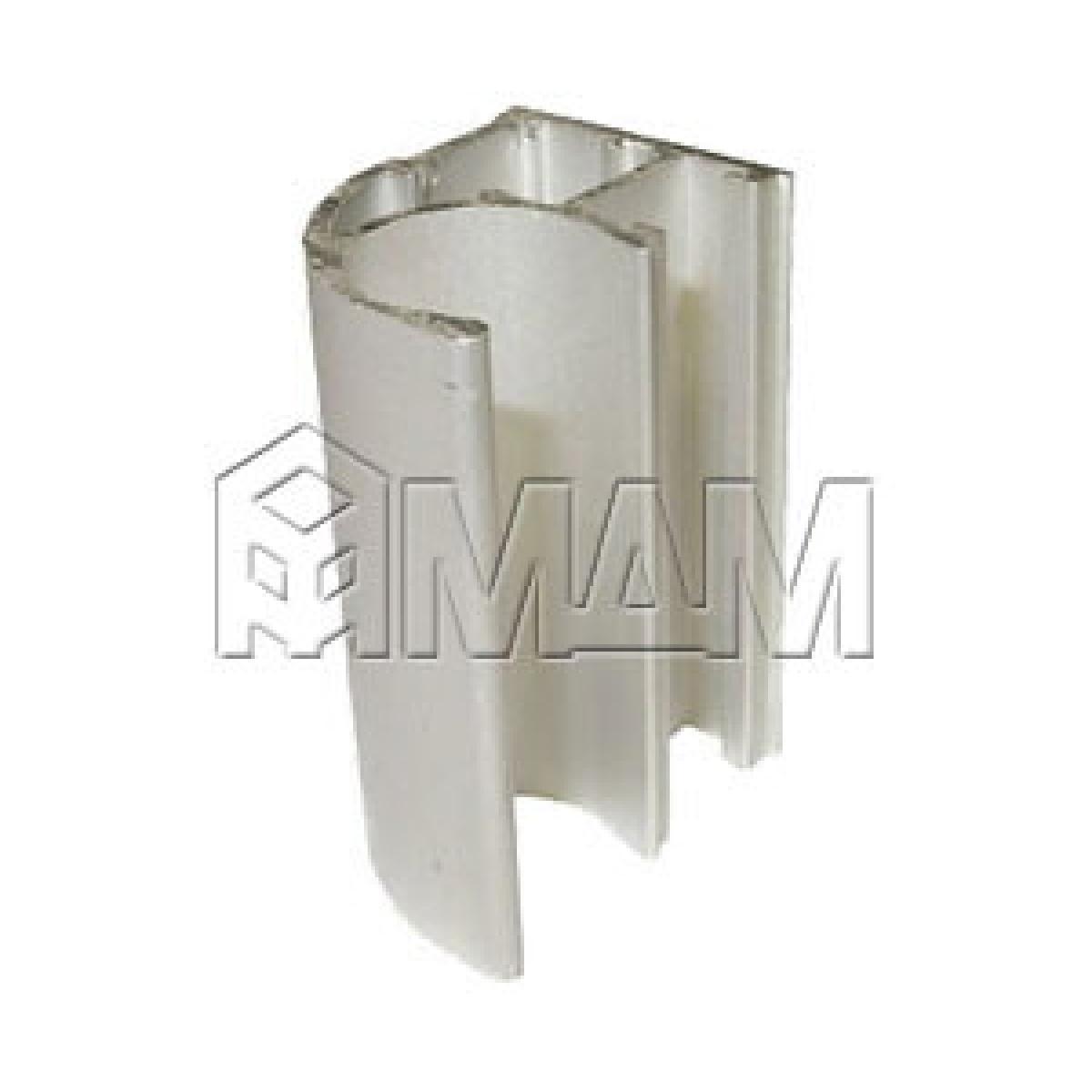 Профиль-ручка асимм. серебро L=5700