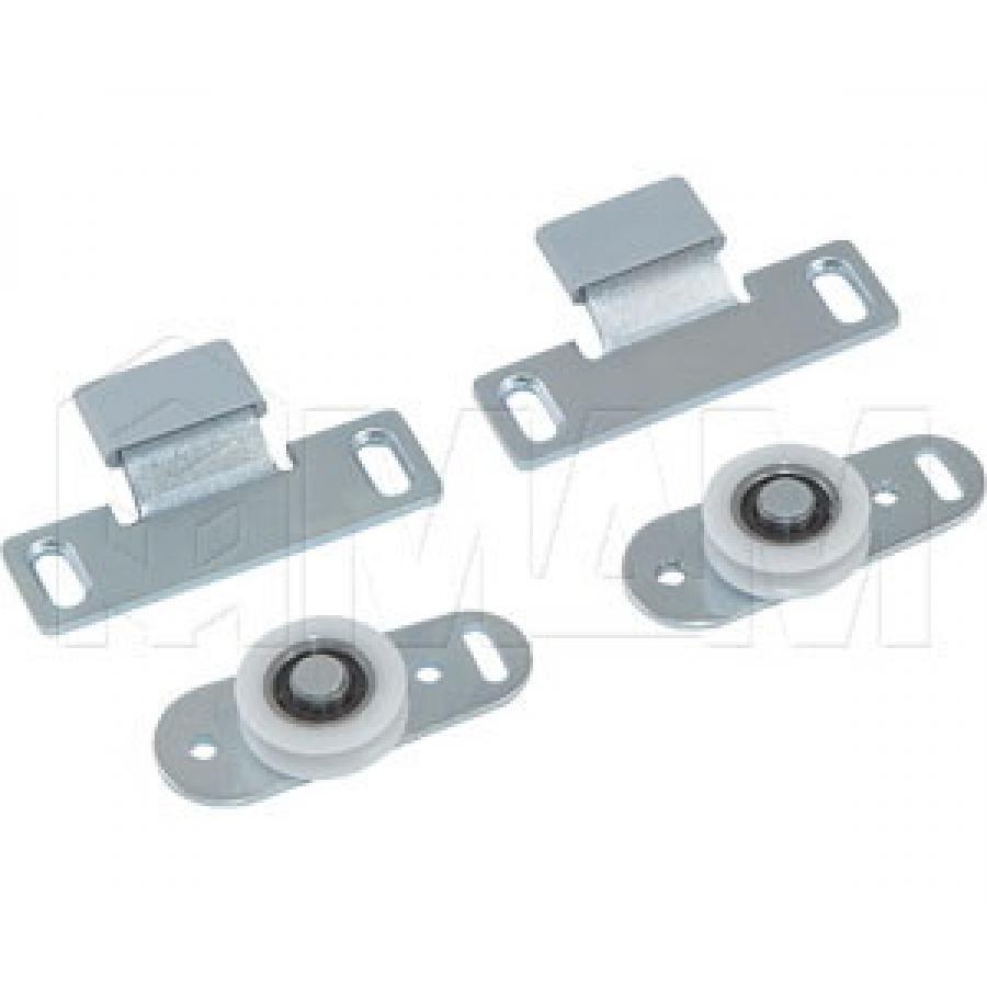 MiniCabinet Комплект роликов для 1 двери, 15 кг (2 верхних, 2 нижних)