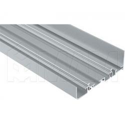 PS48 Направляющая верхняя усиленная, быстрый монтаж, серебро, L-6100