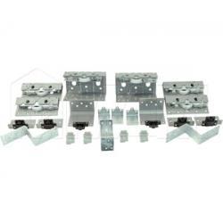 PS10 Комплект роликов для трехдверного шкафа с электроприводом, толщина фасада до 28 мм
