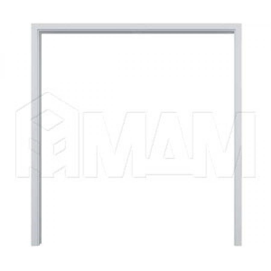 GUSTAVSON Рамка и наличники для двух дверей шириной 600 мм, толщина 125 мм, МДФ, белый