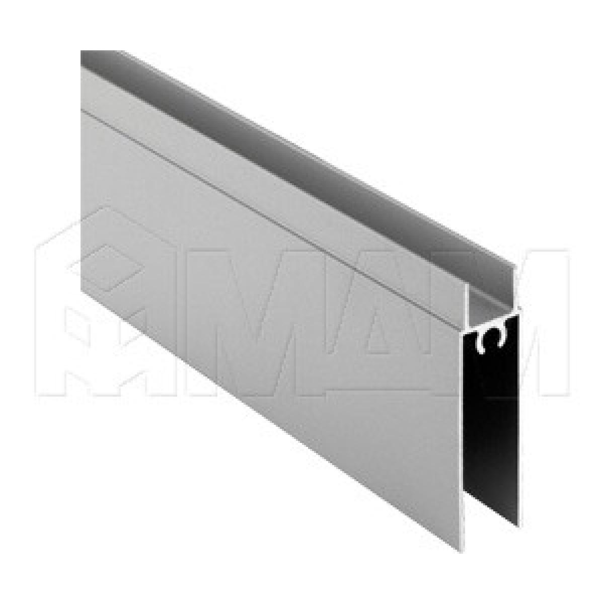 INTEGRO NANO Горизонтальный профиль нижний серебро, L-6000