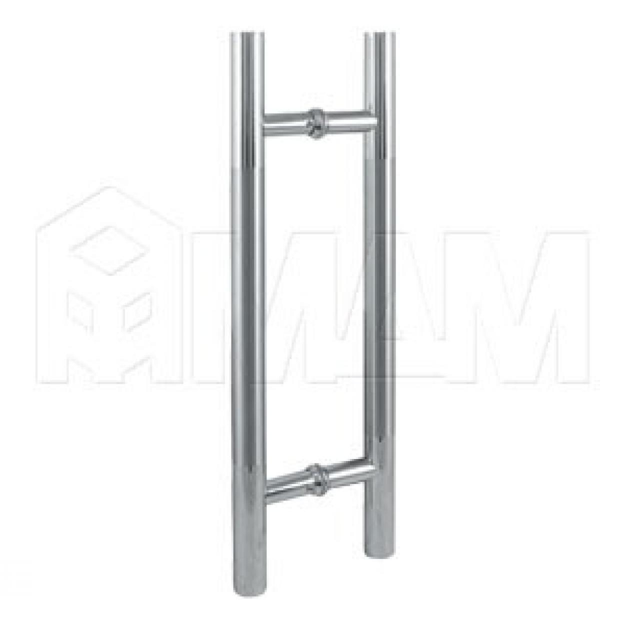 Porta ручка-рейлинг для стеклянных дверей 8-12 мм, хром/нержавеющая сталь, L450, D25