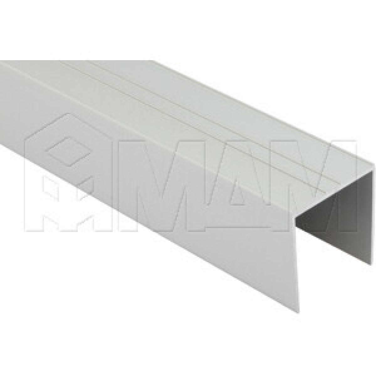 INTEGRO Направляющая одинарная верхняя серебро, L-6000