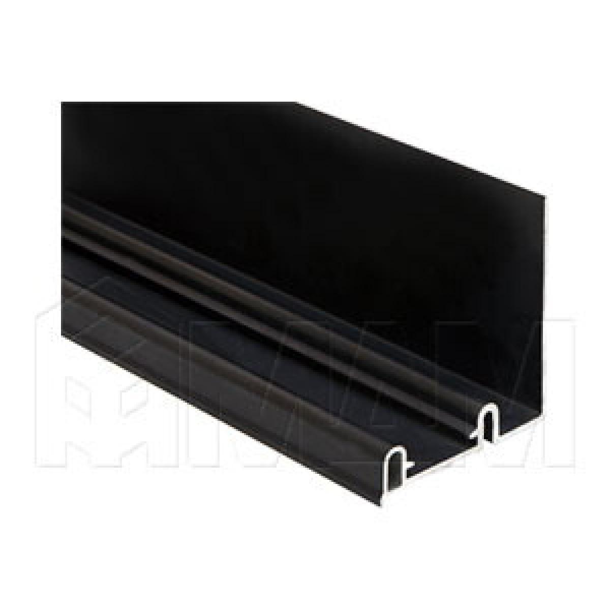 PS10 Направляющая верхняя, ДСП от 16, фикс. снаружи/изнутри, черный, L-6100