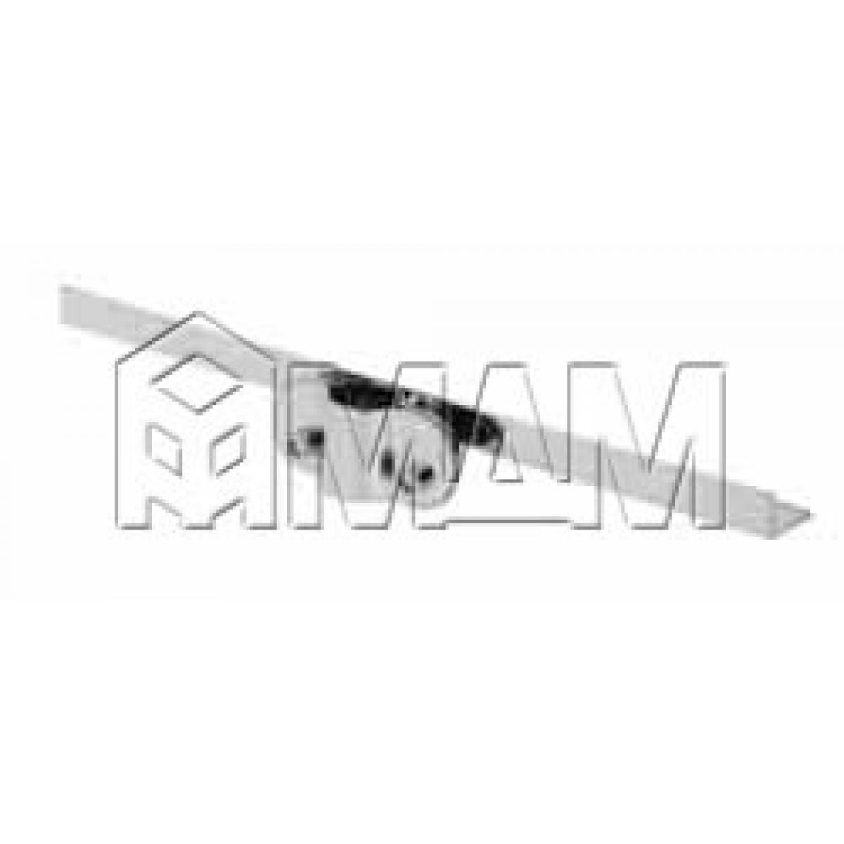 Полкодержатель 300 мм, односторонний, хром