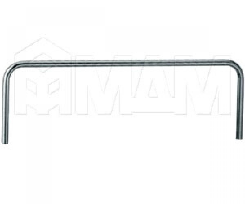 П-образный элемент 955х313 мм, D25 мм, хром