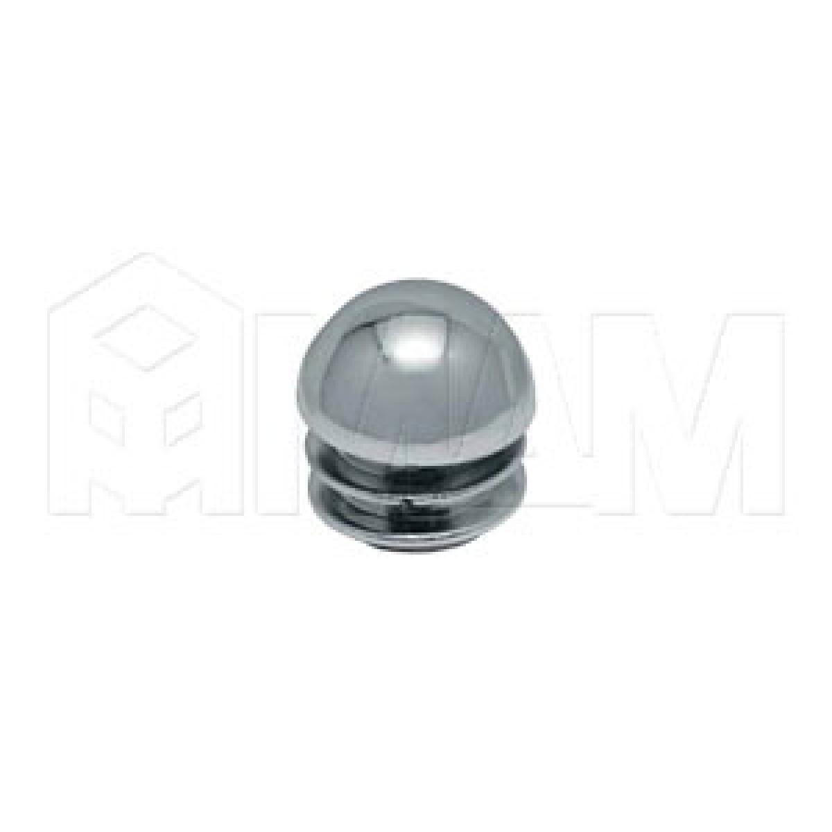 Заглушка-сферическая (пластиковая, D=25мм) хром