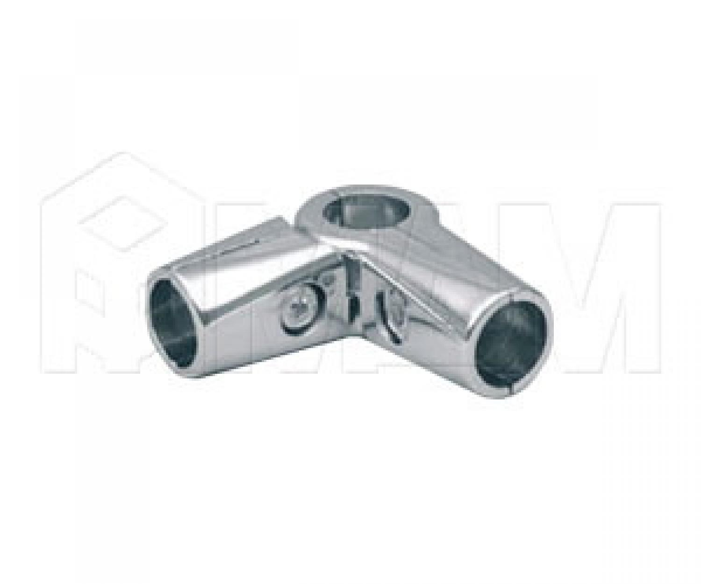Соединитель перпендик. 3-х труб поворотный, усиленный, хром