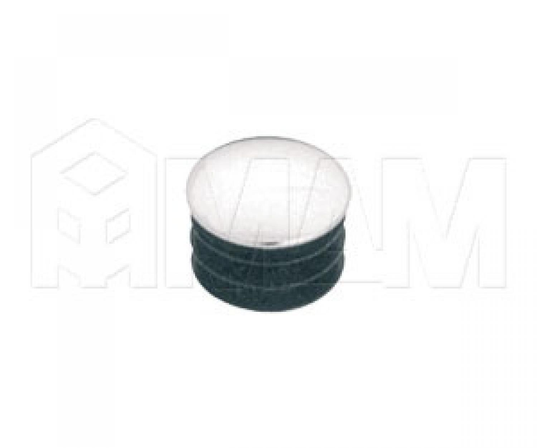 Заглушка (металлопластиковая, D=25мм) хром
